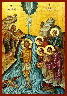Baptism of Christ - Hand Painted Icon