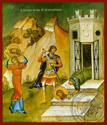 Beheading of Saint John the Forerunner - Hand Painted Icon