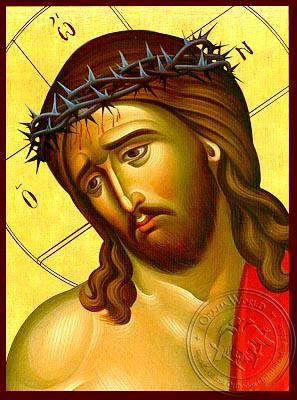 Bridegroom, Detail - Hand Painted Icon
