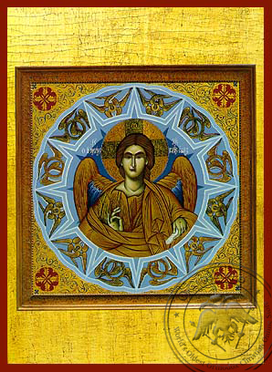 Christ Blessing, Angel of the Great Counsel - Hand Painted Icon