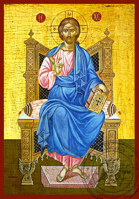Christ Blessing, Enthroned - Hand Painted Icon