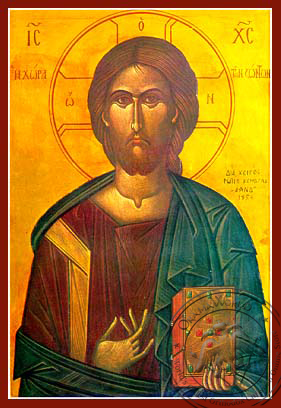 Christ Blessing, Land of the Living - Hand Painted Icon