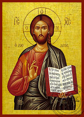 Christ Blessing, the Life - Giver - Hand Painted Icon