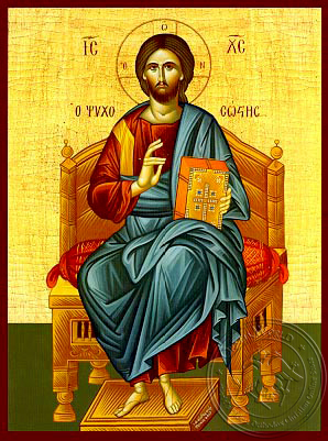 Christ Blessing, Saviour of Souls, Enthroned - Hand Painted Icon