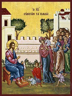 Christ Blessing the Children - Hand Painted Icon