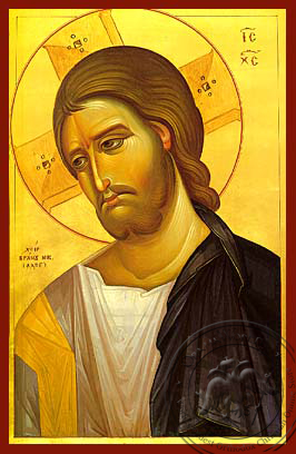 Christ, Bust - Hand Painted Icon