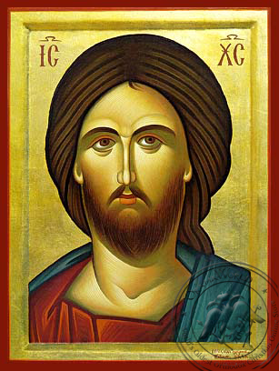 Christ Detail - Hand-Painted Icon