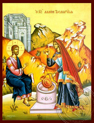 Christ and the Samaritan Woman - Hand-Painted Icon
