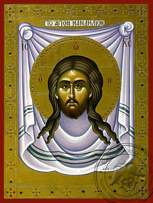Christ, the Holy Napkin - Hand Painted Icon