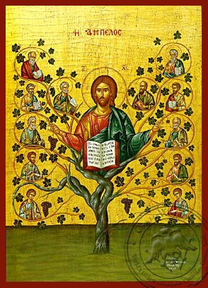 The Vineyard - Hand-Painted Icon