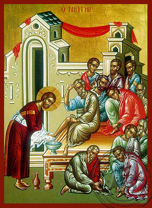 Christ Washing the Disciples' Feet - Hand-Painted Icon