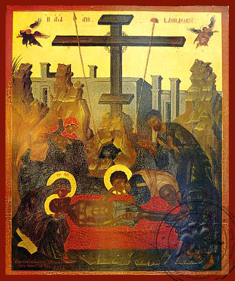 Descent from the Cross (Lamentation) - Hand Painted Icon