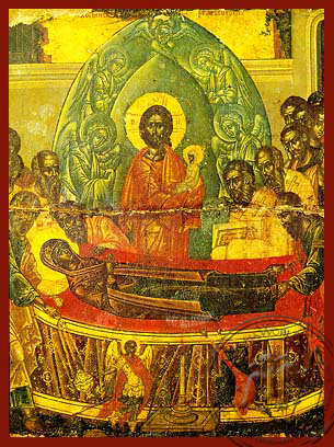 Dormition of Theotokos, Detail - Hand Painted Icon