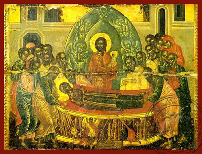Dormition of Theotokos - Hand Painted Icon