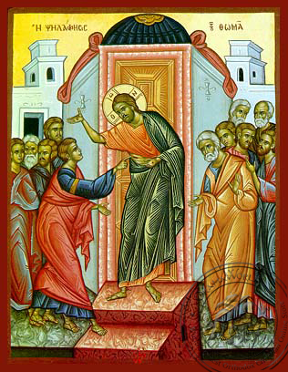 The Doubting of Thomas - Hand-Painted Icon