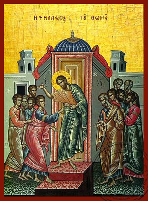 Doubting of Thomas - Hand Painted Icon