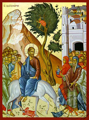 The Entry into Jerusalem - Hand-Painted Icon