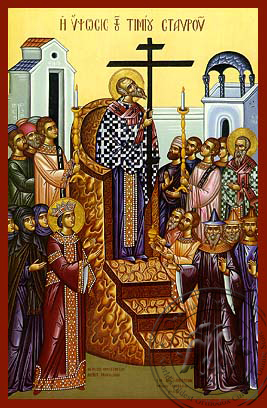 The Elevation of the Precious Cross - Hand-Painted Icon