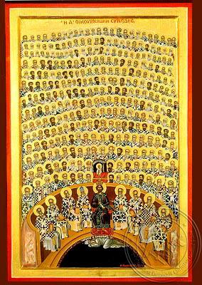 First Holy Ecumenical Council, at Nice of Bithynia - Hand Painted Icon