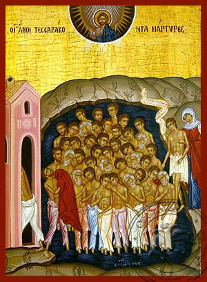 Forty Holy Martyrs - Hand-Painted Icon