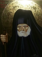 Saint Seraphim of Sarov - Original Hand Painted Modern Icon