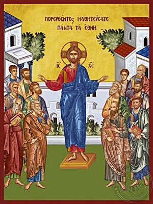 Go into all the World and Preach the Gospel to all Creation - Hand Painted Icon