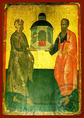 Holy Apostles Peter and Paul, Full Body - Hand Painted Icon