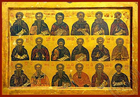Holy Hermits - Hand Painted Icon