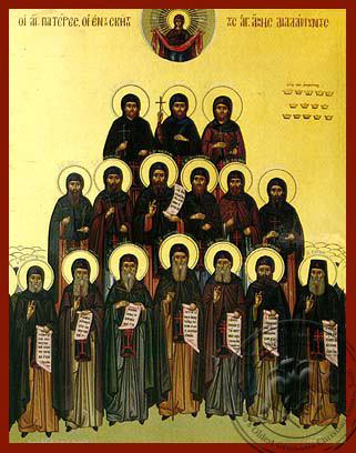 Holy Hermits of Saint Anne's Holy Skete, Mount Athos - Hand Painted Icon