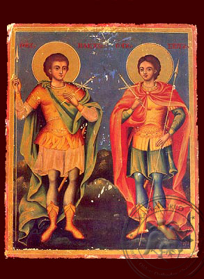 Holy Martyrs Sergios & Vakhos - Hand-Painted Icon