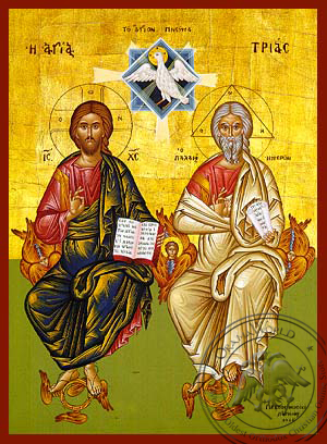 The Holy Trinity - Hand-Painted Icon