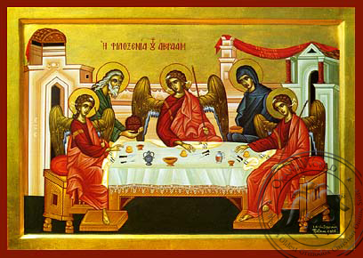 The Hospitality of Abraham - Hand-Painted Icon