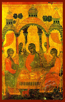 Hospitality of Abraham - Hand Painted Icon