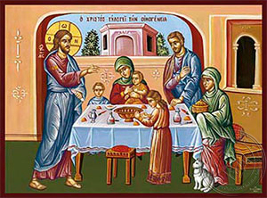 Jesus Christ Blessing the Family - Hand Painted Icon
