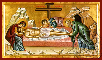 The Lamentation - Hand-Painted Icon
