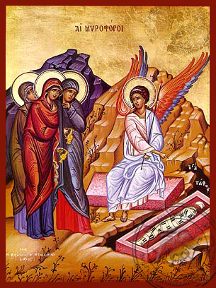 Myrrh Bearers at the Tomb - Hand Painted Icon