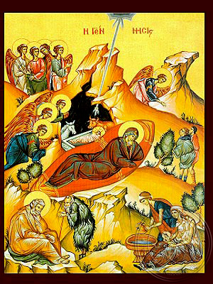 Nativity of Christ - Hand Painted Icon