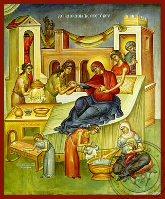 Nativity of Theotokos - Hand Painted Icon