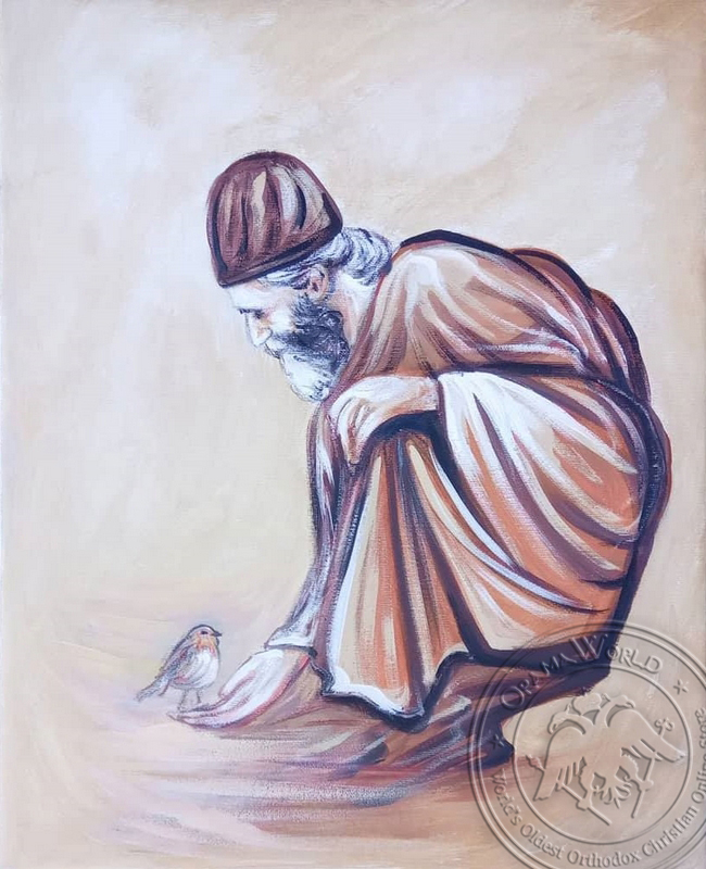 Saint Paisios and Olet - Original Hand Painted Modern Icon