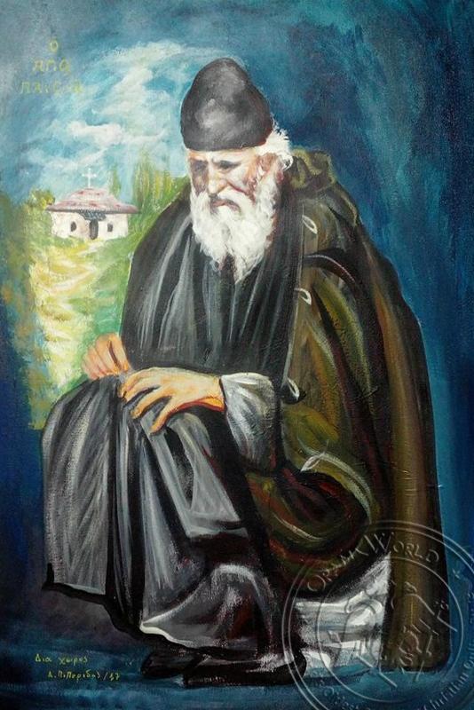 Saint Paisios - Original Hand Painted Modern Icon