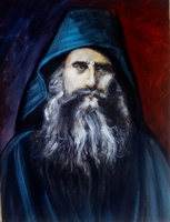 Saint Silouan the Athonite - Original Hand Painted Modern Icon