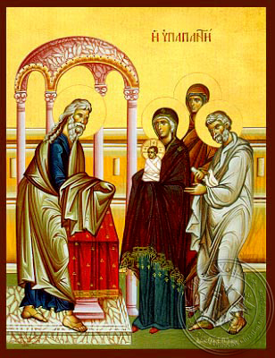 Presentation of Christ in the Temple - Hand Painted Icon
