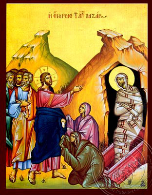 The Raising of Lazarus - Hand-Painted Icon