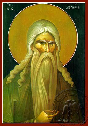 Saint Abraham the Righteous - Hand-Painted Icon