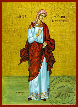 Saint Agathe - Hand-Painted Icon