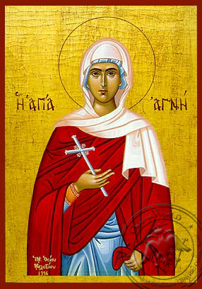 Saint Agni - Hand-Painted Icon