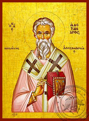 Saint Alexander, Patriarch of Alexandria - Hand Painted Icon