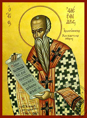 Saint Alexander of Constantinople - Hand-Painted Icon
