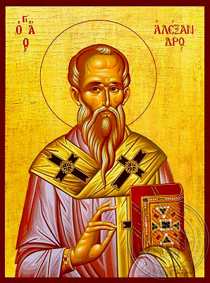 Saint Alexander, Patriarch of Constantinople - Hand Painted Icon