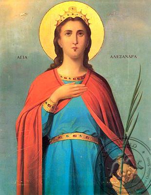 Saint Alexandra - Hand-Painted Icon